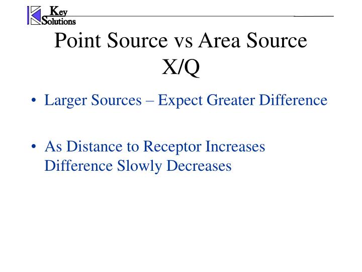 Larger Sources – Expect Greater Difference