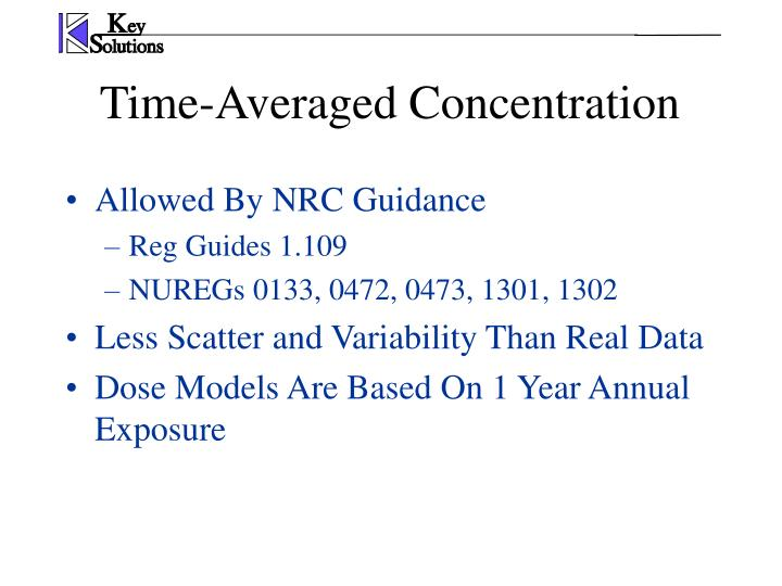 Allowed By NRC Guidance