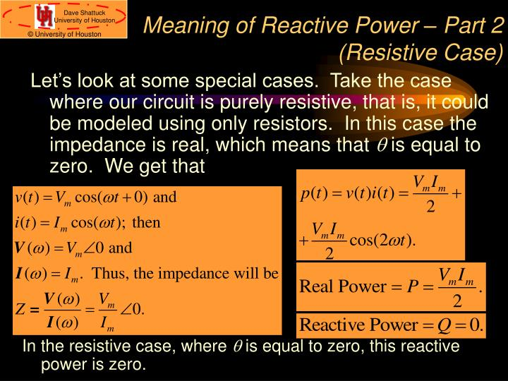 Meaning of Reactive Power – Part 2 (Resistive Case)