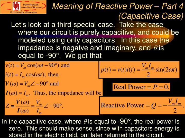 Meaning of Reactive Power – Part 4 (Capacitive Case)