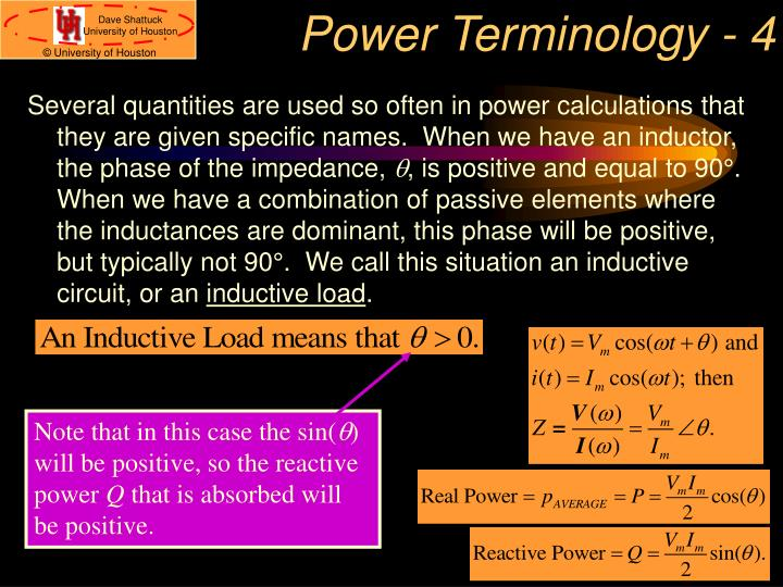 Power Terminology - 4