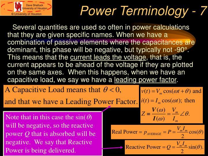 Power Terminology - 7