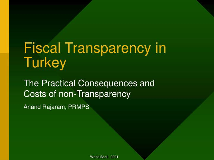 fiscal transparency in turkey n.