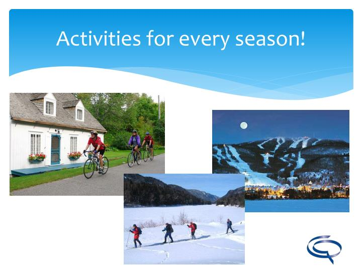 Activities for every season!