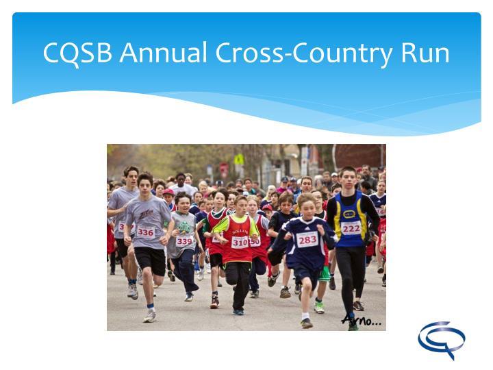 CQSB Annual Cross-Country Run