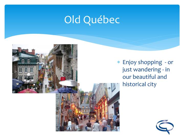 Enjoy shopping  - or just wandering - in our beautiful and  historical city