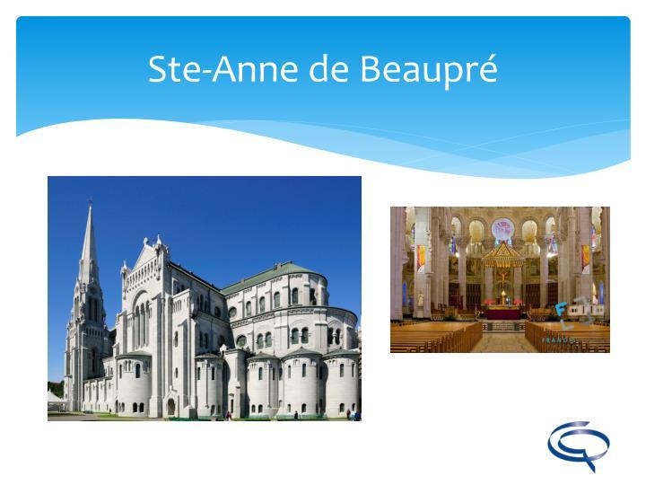 Ste-Anne de Beaupré