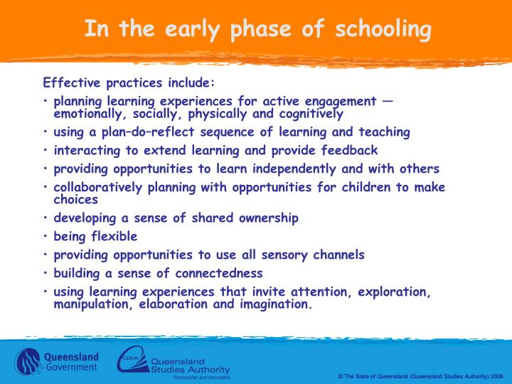 In the early phase of schooling