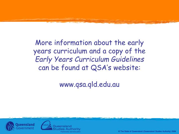 More information about the early years curriculum and a copy of the