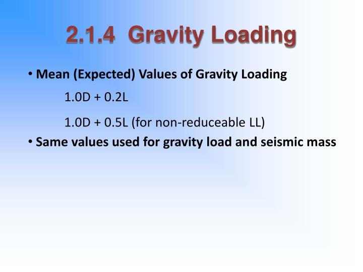 2.1.4  Gravity Loading
