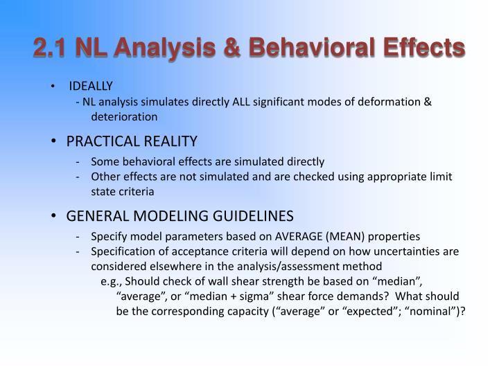 2 1 nl analysis behavioral effects