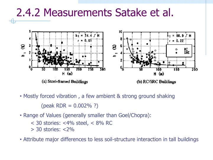 2.4.2 Measurements Satake et al.