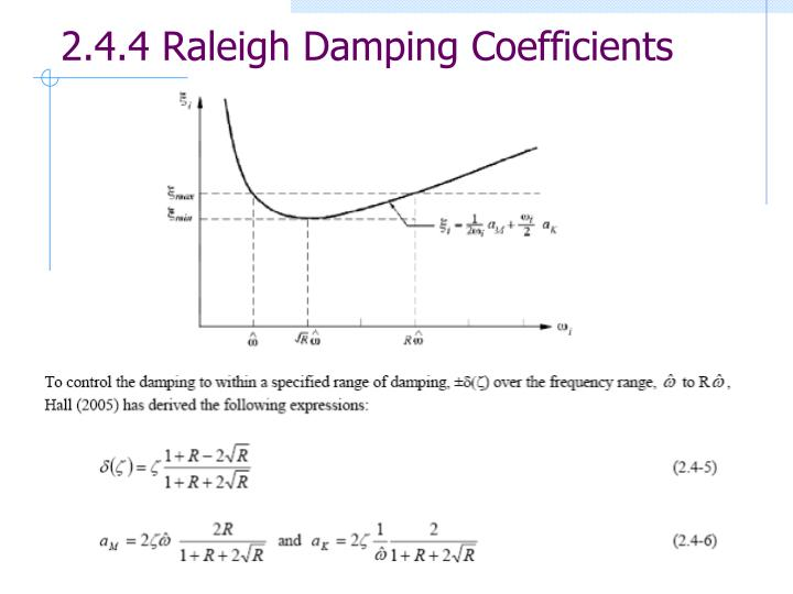 2.4.4 Raleigh Damping Coefficients