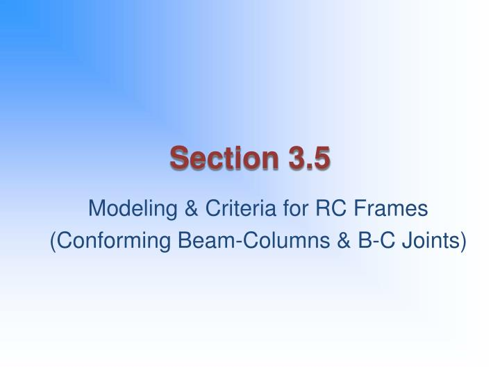 Section 3.5