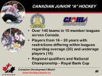 canadian junior a hockey