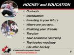 hockey and education