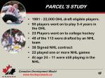 parcel s study