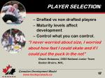 player selection