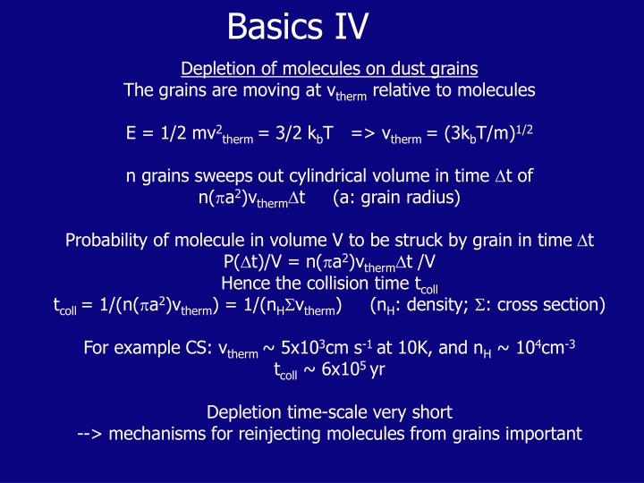 Basics IV