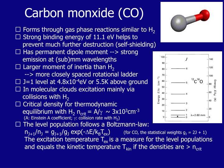 Carbon monxide (CO)