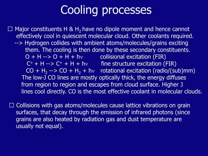 Cooling processes