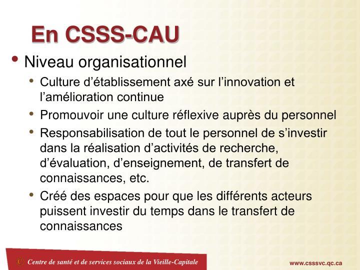 En CSSS-CAU