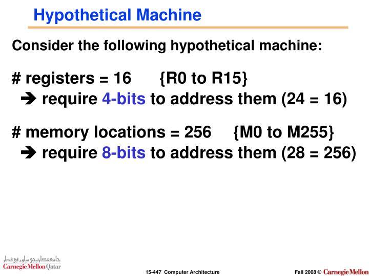 Hypothetical machine