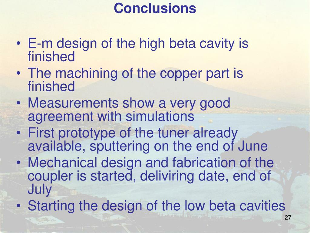 PPT - High beta cavity simulations and RF measurements