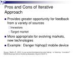 pros and cons of iterative approach