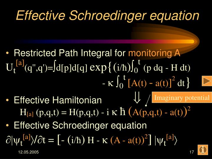 Effective Schroedinger equation