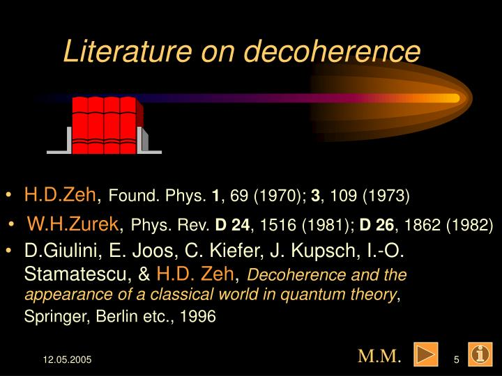 Literature on decoherence