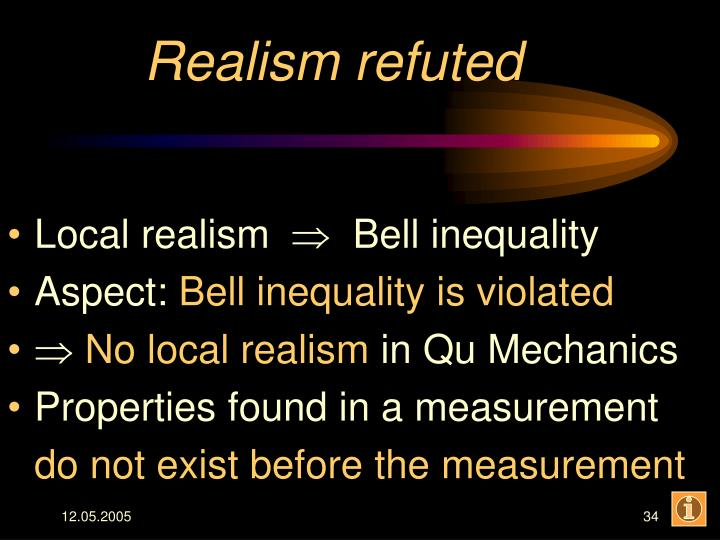 Realism refuted
