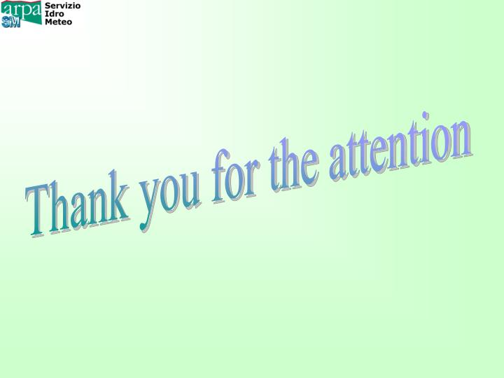 Thank you for the attention