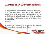 alcance de la auditoria forense