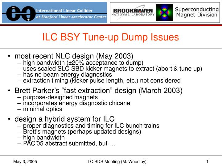 ILC BSY Tune-up Dump Issues