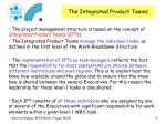the integrated product teams