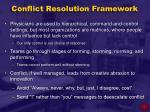 conflict resolution framework