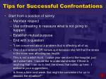 tips for successful confrontations