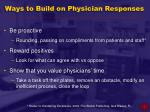 ways to build on physician responses