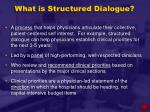 what is structured dialogue