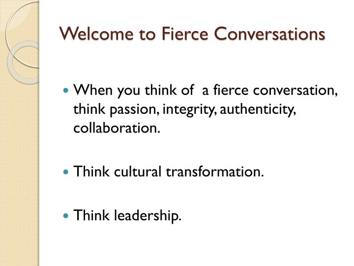 welcome to fierce conversations n.