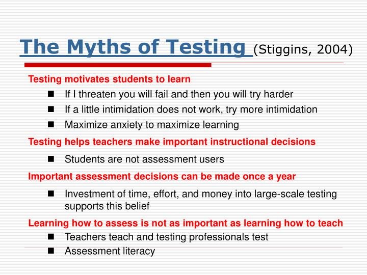 The Myths of Testing