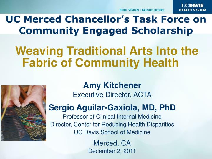 uc merced chancellor s task force on community engaged scholarship n.