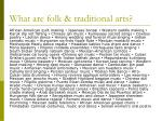what are folk traditional arts
