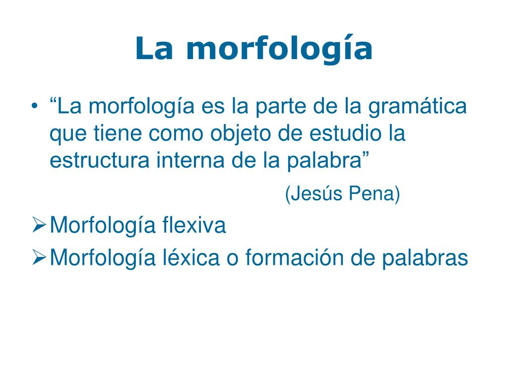 Ppt La Formación De Las Palabras En Español Powerpoint