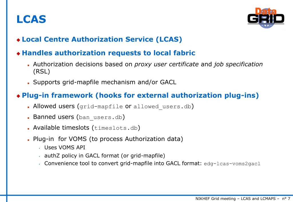 PPT - LCAS and LCMAPS PowerPoint Presentation - ID:5195871