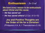 enthusiasm in god3