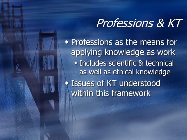 Professions & KT