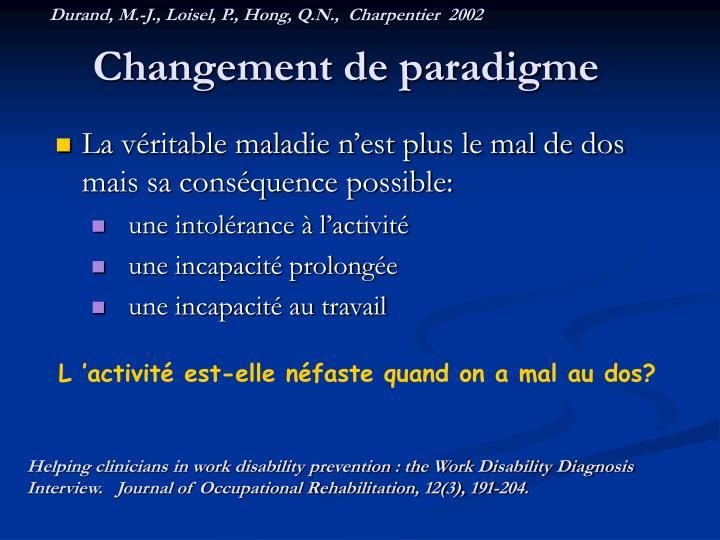 Durand, M.-J., Loisel, P., Hong, Q.N.,  Charpentier  2002