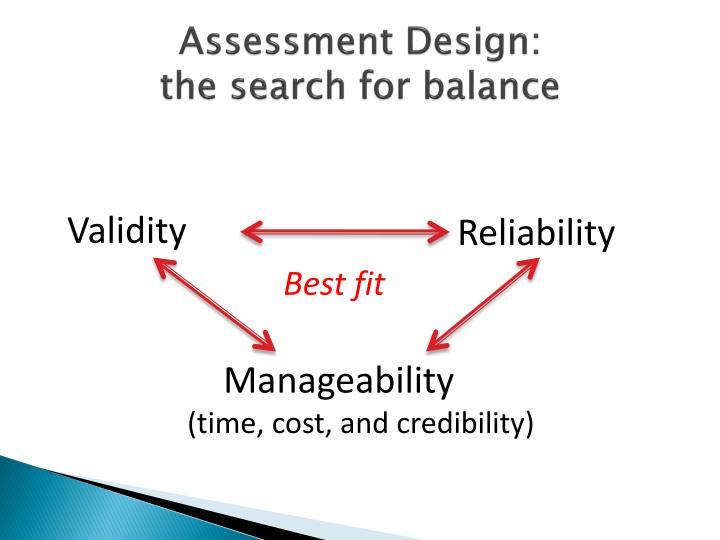 Assessment Design: